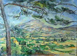 Mont Sainte-Victoire with Large Pine, c.1887 by Cezanne | Painting Reproduction