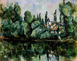 Banks of the Marne (Villa on the Bank of a River), c.1888 von Cezanne | Gemälde-Reproduktion