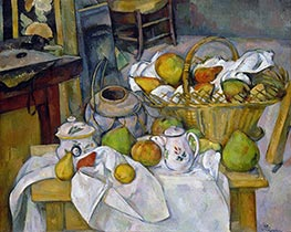 The Kitchen Table, c.1888/90 von Cezanne | Gemälde-Reproduktion