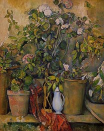Potted Plants, c.1888/90 von Cezanne | Gemälde-Reproduktion