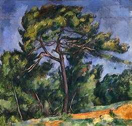 The Large Pine, c.1889 von Cezanne | Gemälde-Reproduktion