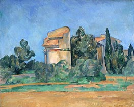 The Pigeon Tower at Bellevue, c.1894/96 von Cezanne | Gemälde-Reproduktion