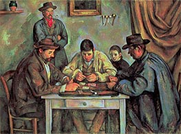 The Card Players, c.1890/92 von Cezanne | Gemälde-Reproduktion