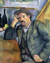 The Smoker, 1895 von Cezanne | Gemälde-Reproduktion
