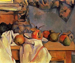 Still Life with Pomegranate and Pears | Cezanne | Painting Reproduction
