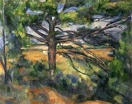 Great Pine near Aix, c.1895/97 by Cezanne | Painting Reproduction