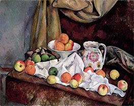 Compotier, Pitcher and Fruit | Cezanne | Painting Reproduction