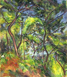 Forest Sous-Bois | Cezanne | Painting Reproduction