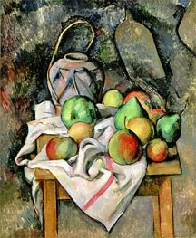 Ginger Jar and Fruit, 1895 by Cezanne | Painting Reproduction