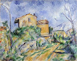 Maison Maria with a View of Chateau Noir, c.1895 by Cezanne | Painting Reproduction
