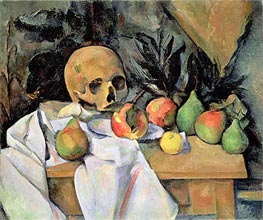 Still Life with Skull | Cezanne | Gemälde Reproduktion