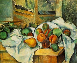 Table Napkin and Fruit | Cezanne | Painting Reproduction