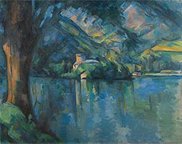 The Lac d'Annecy, 1896 by Cezanne | Painting Reproduction