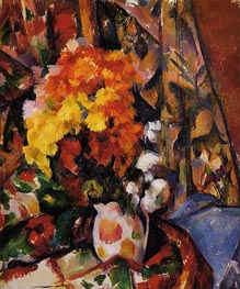 Chrysanthemums, c.1896/00 by Cezanne | Painting Reproduction
