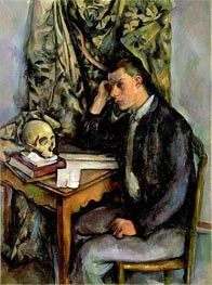 Boy with Skull, c.1896/98 von Cezanne | Gemälde-Reproduktion