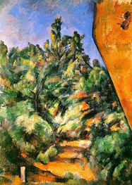 Bibemus - the Red Rock, c.1897 von Cezanne | Gemälde-Reproduktion