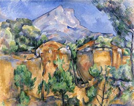 Mont Sainte-Victoire Seen from the Bibemus Quarry | Cezanne | Painting Reproduction