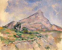Mount Sainte-Victoire, c.1897/98 by Cezanne | Painting Reproduction