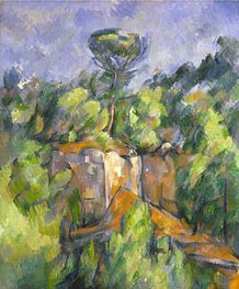 The Bibemus Quarry, c.1898/00 von Cezanne | Gemälde-Reproduktion