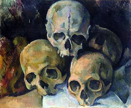 Pyramid of Skulls | Cezanne | Painting Reproduction