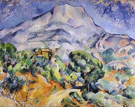 Road near Mont Sainte-Victoire | Cezanne | Painting Reproduction