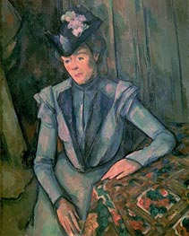 Woman in Blue (Madame Cezanne), c.1900/02 by Cezanne | Painting Reproduction