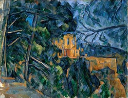The Chateau Noir, c.1900/04 by Cezanne | Painting Reproduction