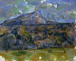 Mont Sainte-Victoire Seen from Les Lauves | Cezanne | Gemälde Reproduktion