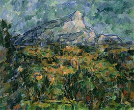 Mont Saint-Victoire, c.1904/05 by Cezanne | Painting Reproduction