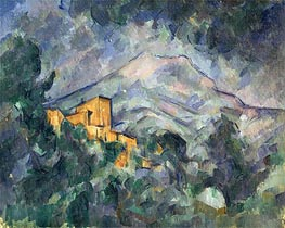 Montagne Sainte-Victoire and the Black Chateau | Cezanne | Painting Reproduction