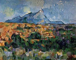 Mont Sainte-Victoire, c.1904/06 by Cezanne | Painting Reproduction