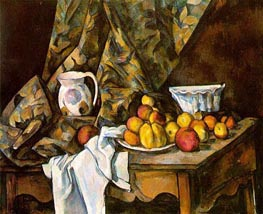 Still Life with Apples and Peaches, c.1905 by Cezanne | Painting Reproduction