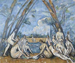 The Large Bathers, 1906 by Cezanne | Painting Reproduction