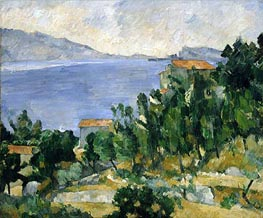 View of Mount Mareseilleveyre and the Isle of Maire, c.1878/82 von Cezanne | Gemälde-Reproduktion