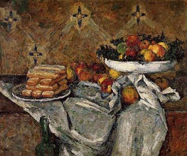 Compotier and Plate of Biscuits | Cezanne | Painting Reproduction