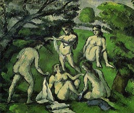 Five Bathers, c.1877/78 by Cezanne | Painting Reproduction