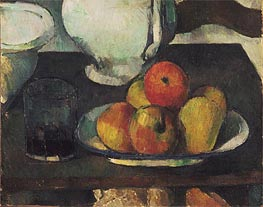 Still Life with Apples and a Glass of Wine, c.1877/79 by Cezanne | Painting Reproduction