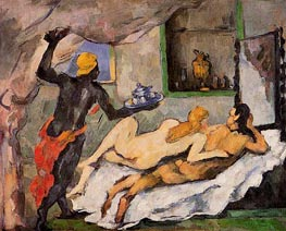 Afternoon in Naples with a Black Servant | Cezanne | Painting Reproduction