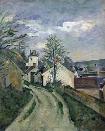 The House of Doctor Gachet at Auvers, c.1872/73 by Cezanne | Painting Reproduction