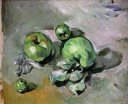 Green Apples | Cezanne | Painting Reproduction