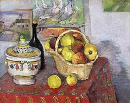 Still Life with Soup Tureen | Cezanne | Painting Reproduction