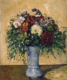 Flowers in a Blue Vase | Cezanne | Painting Reproduction