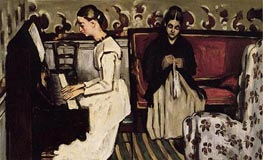Girl at the Piano (The Overture to Tannhauser) | Cezanne | Painting Reproduction
