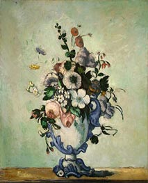 Flowers in a Rococo Vase | Cezanne | Painting Reproduction