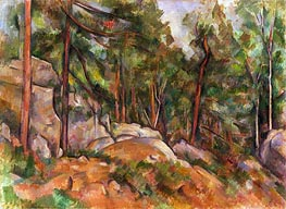 Forest Interior | Cezanne | Painting Reproduction