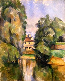 Country House by the Water, c.1888 von Cezanne | Gemälde-Reproduktion