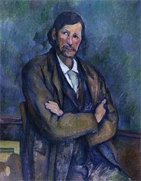 Man with Folded Arms | Cezanne | Painting Reproduction