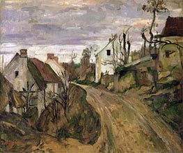 The Village Road, Auvers | Cezanne | Painting Reproduction