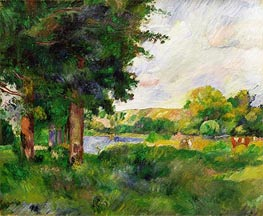 Landscape, Undated by Cezanne | Painting Reproduction