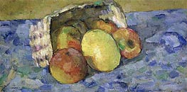 Overturned Basket of Fruit, c.1877 by Cezanne | Painting Reproduction